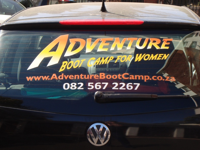 Apply our rear window car sticker and receive a lump sum payment and a free camp